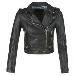 Clothing Women Leather jackets / Imitation leather Oakwood YOKO Black
