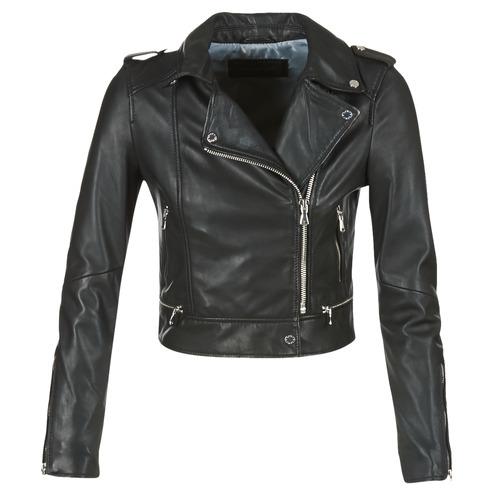 Clothing Women Leather jackets / Imitation leather Oakwood YOKO Black