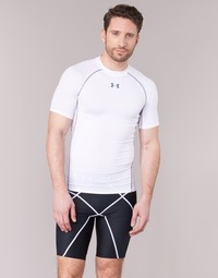 Clothing Men short-sleeved t-shirts Under Armour Armour HG SS White