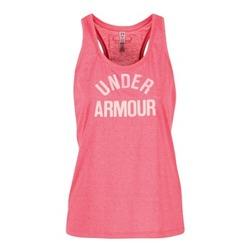 Clothing Women Tops / Sleeveless T-shirts Under Armour THREADBORNET TWIST GRAPHIC Pink
