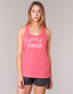 Clothing Women Tops / Sleeveless T-shirts Under Armour THREADBORNET TWIST GRAPHIC Pink