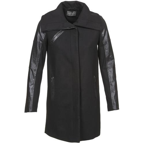 Clothing Women Coats Esprit BATES Black