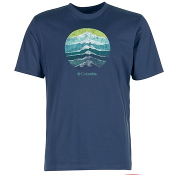 Clothing Men short-sleeved t-shirts Columbia CSC MOUNTAIN SUNSET Blue