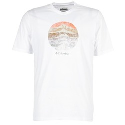 Clothing Men short-sleeved t-shirts Columbia CSC MOUNTAIN SUNSET White