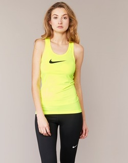 Clothing Women Tops / Sleeveless T-shirts Nike NIKE PRO COOL TANK Yellow