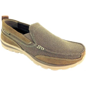 Shoes Men Loafers Skechers Relaxed Fit Milford Lt.Brown