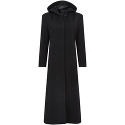 Clothing Women Parkas De La Creme Women Hooded Cashmere Wool Winter Long Winter Coat Black