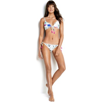 Clothing Women Bikini Separates Seafolly White Tie Front Bra Swimwear Flower Festival WHITE