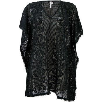 Clothing Women Tunics Seafolly Black Lace casablanca Kaftan BLACK
