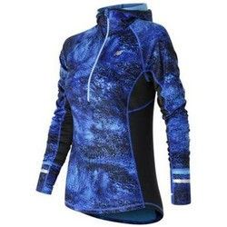 Clothing Women jumpers New Balance WT63220BEM Black-Blue-Navy blue