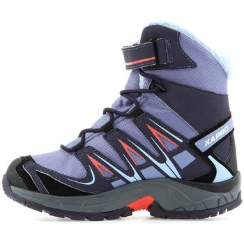 Shoes Children Hi top trainers Salomon XA Pro 3D Winter TS Cswp K Grey-Violet
