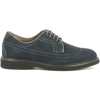 Shoes Men Walking shoes Nero Giardini A604481U Lace-up heels Man Blue Blue