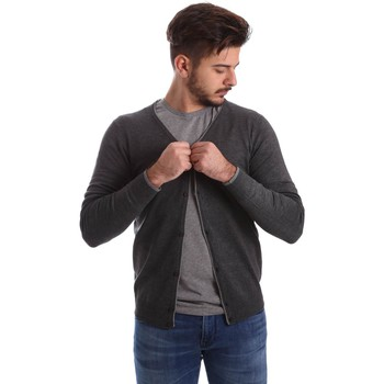Clothing Men Jackets / Cardigans Automatic MAU22220 Cardigan Man Grey Grey