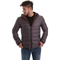 Clothing Men coats Byblos Blu 669500 Down jacket Man Grey Grey