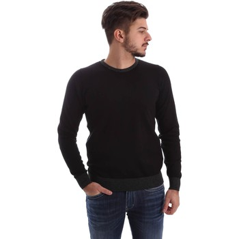 Clothing Men long-sleeved polo shirts Gas 561661 Jumper Man Black Black
