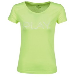 Clothing Women short-sleeved t-shirts Only Play BASIC Yellow