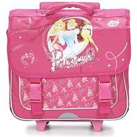 Bags Girl Rucksacks / Trolley bags Disney PRINCESSES CARTABLE TROLLEY 38CM Pink