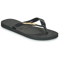 Shoes Women Flip flops Havaianas TOP LOGO METALLIC  black / Gold