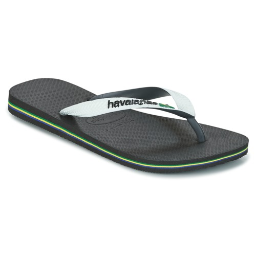 Shoes Flip flops Havaianas BRASIL MIX White / Black
