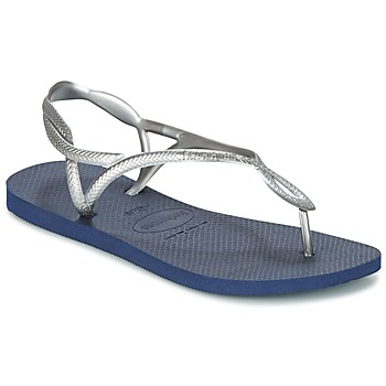 Shoes Women Flip flops Havaianas LUNA Silver / Blue