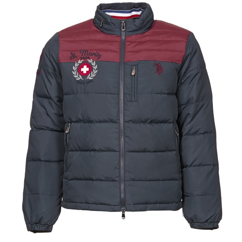 Clothing Men Duffel coats U.S Polo Assn. ST.MORITZ Marine / Bordeaux