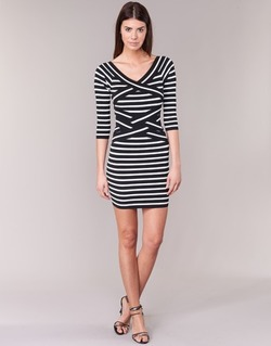 Clothing Women Short Dresses Morgan RBEST Black / ECRU