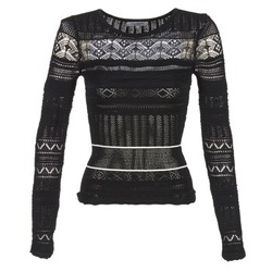Clothing Women jumpers Morgan MARAI Black / ECRU