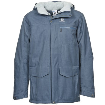 Clothing Men Parkas Salomon SKYLINE Blue