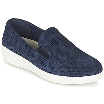 Shoes Women Flat shoes FitFlop SUPERSKATE (PERF) MIDNIGHT / NAVY