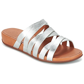 Shoes Women Mules FitFlop LUMY SLIDE SILVER