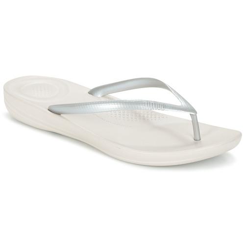 Shoes Women Flip flops FitFlop IQUSHION ERGONOMIC FLIP FLOP Glitter / Silver