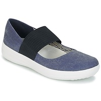 Shoes Women Flat shoes FitFlop FSPORTY MARY JANE CANVAS Midnight / Navy