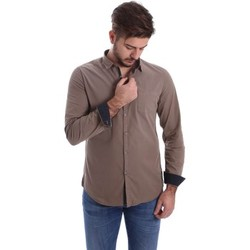 Clothing Men long-sleeved shirts Automatic CAU22224 Shirt Man Brown Brown