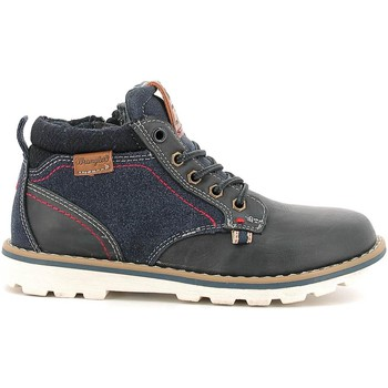 Shoes Children Mid boots Wrangler WJ16235B Ankle boots Kid Navy