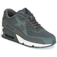 Shoes Boy Low top trainers Nike AIR MAX 90 MESH GRADE SCHOOL Grey