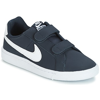 Shoes Boy Low top trainers Nike COURT ROYALE PRESCHOOL Blue / White
