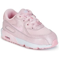 Shoes Girl Low top trainers Nike AIR MAX 90 MESH SE TODDLER Pink
