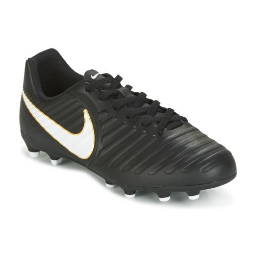 Shoes Children Football shoes Nike TIEMPO RIO IV FG JUNIOR Black / White