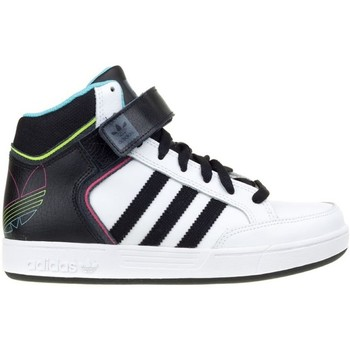 Shoes Children Hi top trainers adidas Originals Varial Mid J White-Black