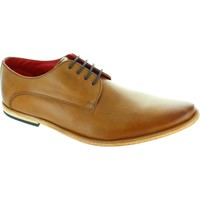 Shoes Men Derby Shoes Base Cash Men's waxy Tan pointed toe lace up leather derby shoes new Tan