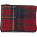 Comme Des Garcons in red tartan patchwork