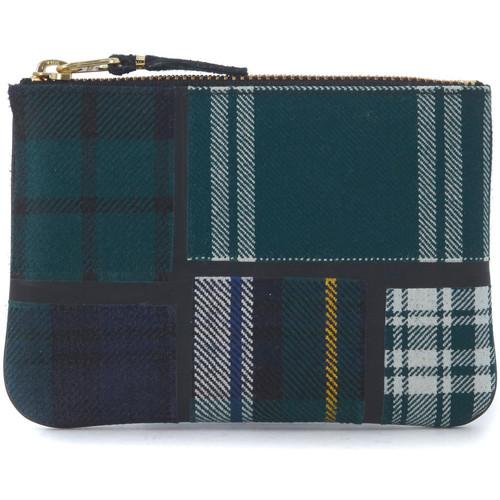 Watches Jewellery Comme Des Garcons Comme des Garçons green tartan patchwork wool wallet Green