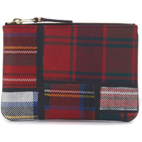 Watches Jewellery Comme Des Garcons Comme des Garçons red tartan patchwork wool wallet Red