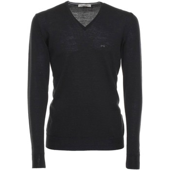 Clothing Men long-sleeved polo shirts Nero Giardini A670310U Jumper Man Black Black