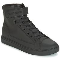 Shoes Men Hi top trainers Armani jeans JEFEM Black