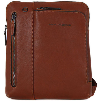 Bags Men Bag Piquadro TRACOLLA PELLE Marrone