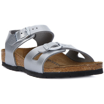 Shoes Women Sandals Birkenstock RIO SILVER Argento
