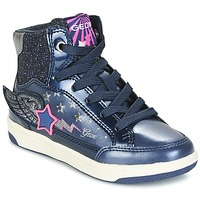 Shoes Girl Hi top trainers Geox J CREAMY A MARINE / Pink
