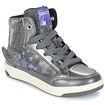 Shoes Girl Hi top trainers Geox J CREAMY A Silver / Purple