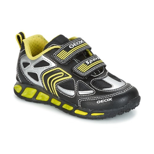 Shoes Boy Low top trainers Geox J SHUTTLE B. A Black / Yellow